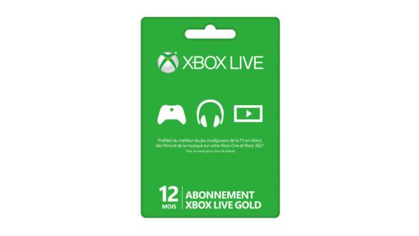 Abonnement Xbox Live Gold de 12 mois