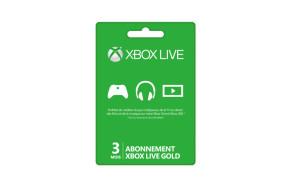 Abonnement Xbox Live Gold de 3 mois