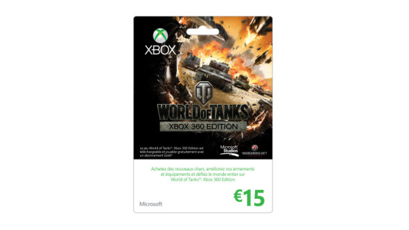 Carte Xbox LIVE : 15€ édition spéciale World of Tanks