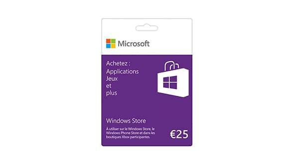 Carte Microsoft 25€