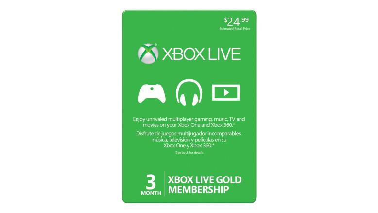 Membresía Xbox Live Gold por 3 meses