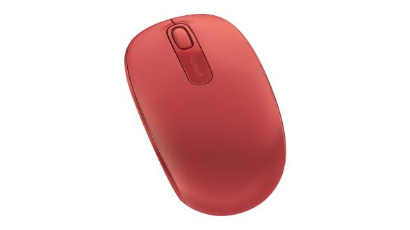 Top view of Microsoft Wireless Mobile Mouse 1850 (Flame Red)
