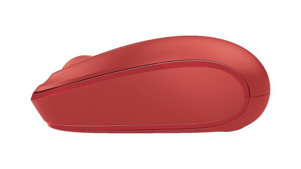 Side view of Microsoft Wireless Mobile Mouse 1850 (Flame Red)