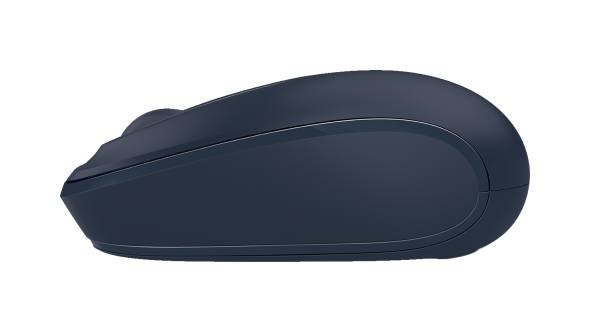 Side view of Microsoft Wireless Mobile Mouse 1850 (Wool Blue)