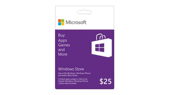 Carte-cadeau Windows Store : 25 $ CA
