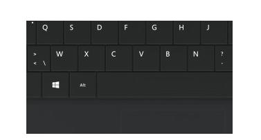 Windows-sneltoetsen, functietoetsen en mediaknoppen, en een trackpad